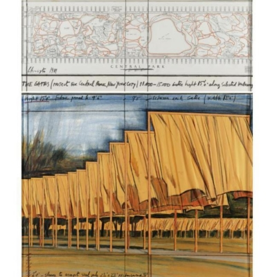 Christo - the Gates (projet pour Central Park NYC)
