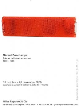 Pièces militaires - Galerie Gilles Peyroulet, Paris, 2005