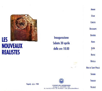 Les Nouveaux Réalistes, Elefante Trevise, 2005
