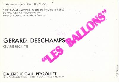 Les Ballons, Galerie Le Gall Peyroulet, Paris, 1990