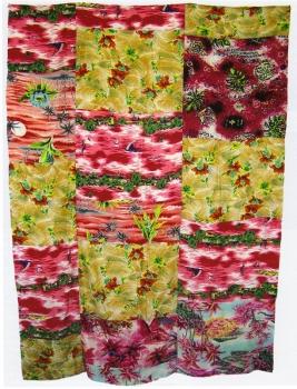 <b>Fleurs des îles</b> (1961)<br/><i>Patchwork, tissus japonais</i>