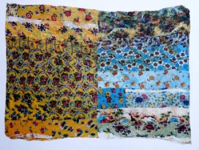 <b>Petites Fleurs</b> (1961)<br/><i>Patchwork, tissus japonais</i>