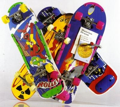 <b>Debord Druon</b> (2002)<br/><i>Planches à roulettes et livres</i>
