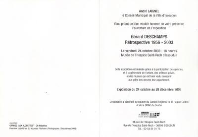 Rétrospective, Musée de l'hospice Saint Roch, Issoudun, 2003