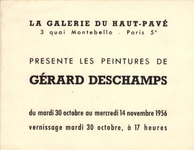 Galerie du Haut Pavé, Paris, 1956