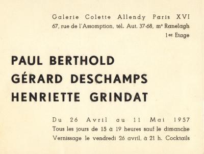 Chiffons et Plissages, Galerie Colette Allendy, Paris, 1957